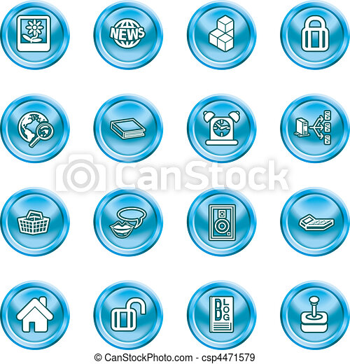 internet and computing media icons - csp4471579