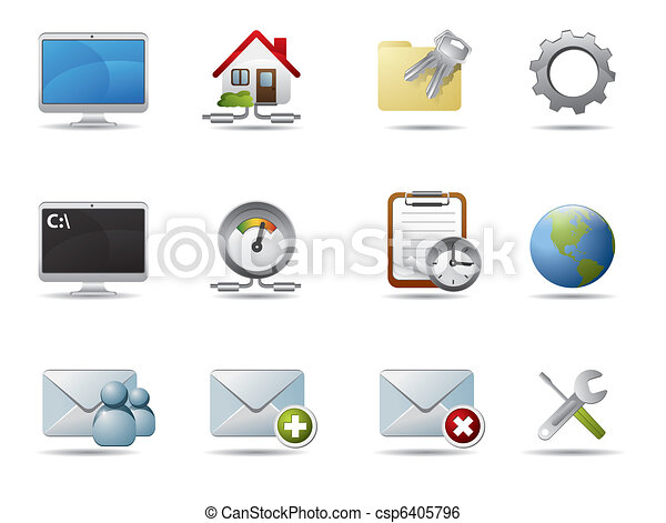 Internet and network icons - csp6405796