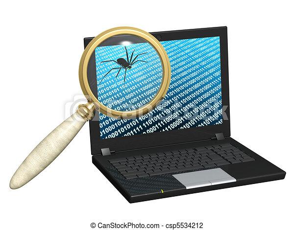 Internet bug Drawing | csp5534212
