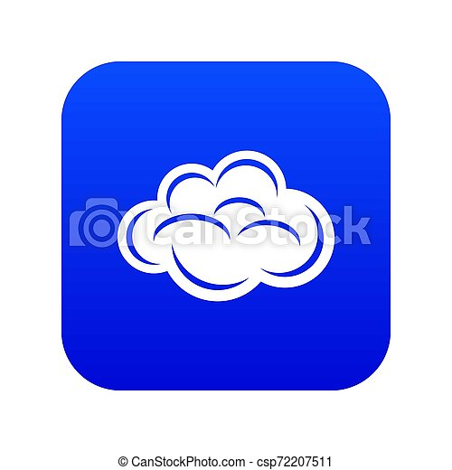 Internet cloud icon blue - csp72207511