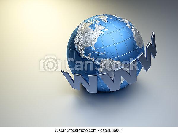 Internet concept - csp2686001