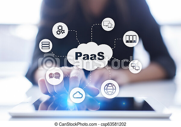Paas, plataforma como servicio. El concepto de Internet y la red. - csp63581202