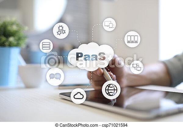 Paas, plataforma como servicio. El concepto de Internet y la red. - csp71021594