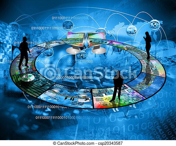 internet, conecta, pessoas - csp20343587