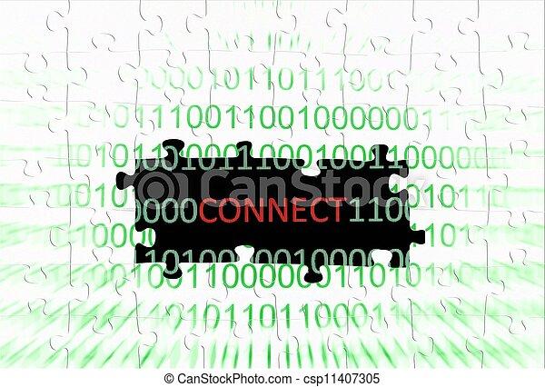Internet connection concept - csp11407305