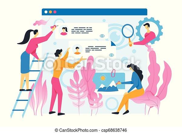 internet, forum, activité - csp68638746