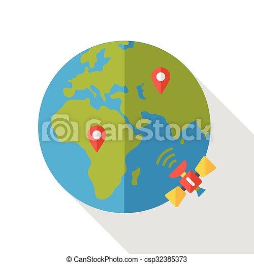 Internet global flat icon internet global flat icon csp32385373 gumiabroncs Images