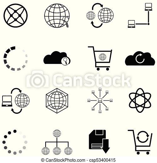 internet icon set - csp53400415