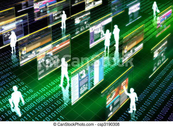 Internet life - csp3190308