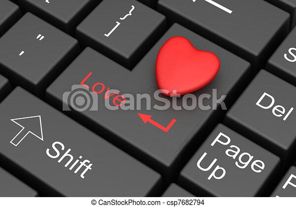 Internet Love - csp7682794