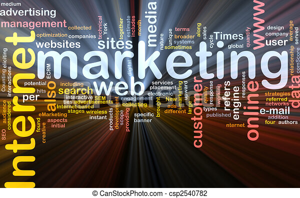 Internet marketing word cloud box package - csp2540782