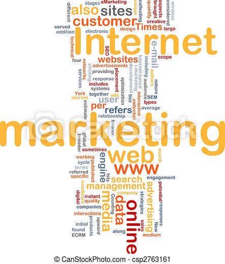 Internet marketing word cloud - csp2763161