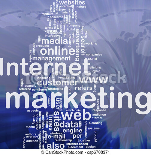 Internet marketing word cloud - csp6708371