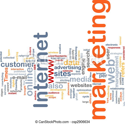 Internet marketing word cloud - csp2906634