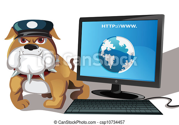 A vector illustration of internet or computer security ...