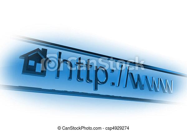 internet, página principal, dirección - csp4929274