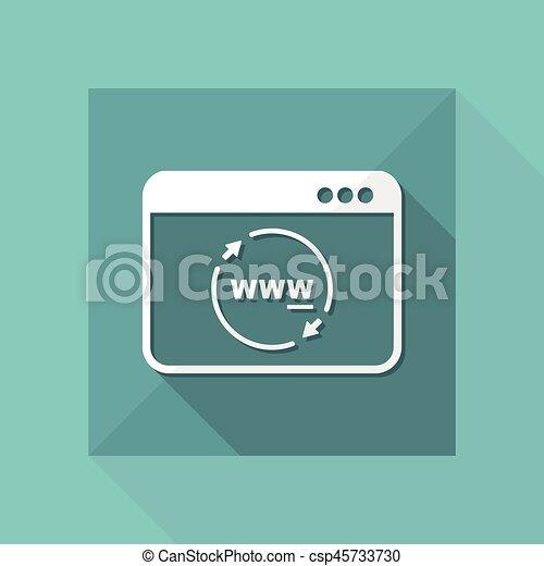 Internet panel refresh button - csp45733730