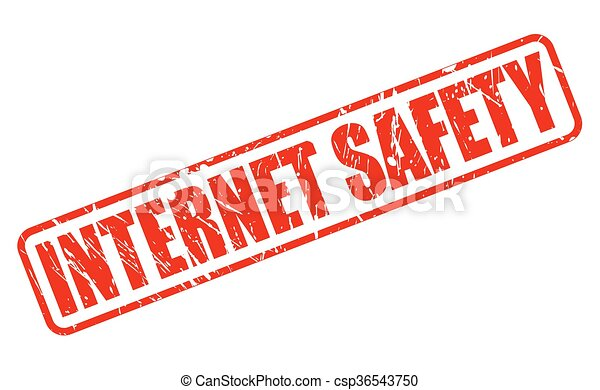 internet safety red stamp text on white rh canstockphoto com Computer Safety Clip Art Internet Clip Art