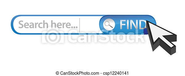 internet search bar - csp12240141