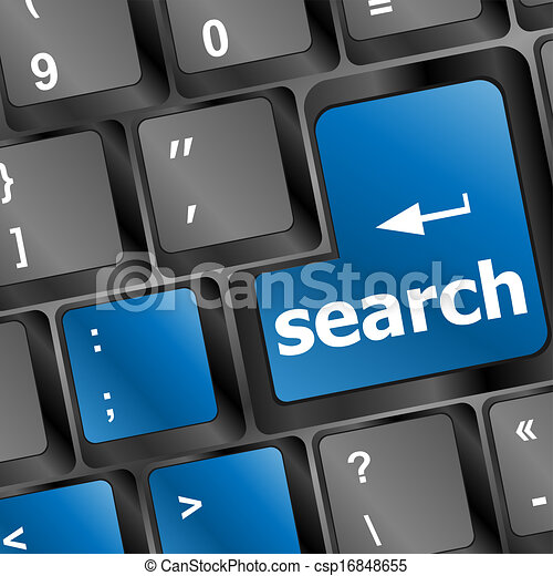 internet search concept with computer keyboard button - csp16848655