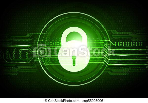 Internet security concept on digital background - csp55005006