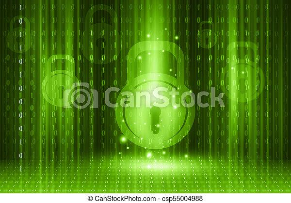 Internet security concept on digital background - csp55004988