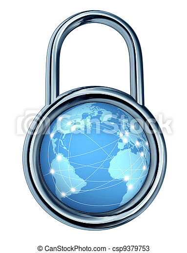 Internet Security Lock - csp9379753