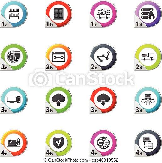 Internet, server, network icons set - csp46010552
