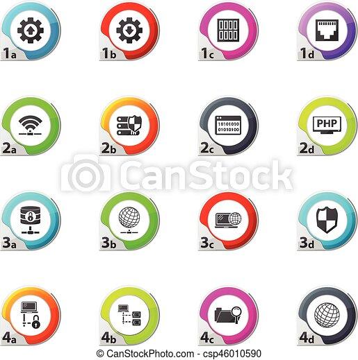 Internet, server, network icons set - csp46010590