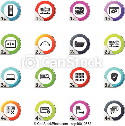Internet, server, network icons set - csp46010583