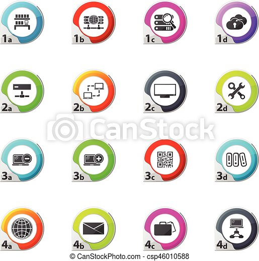 Internet, server, network icons set - csp46010588