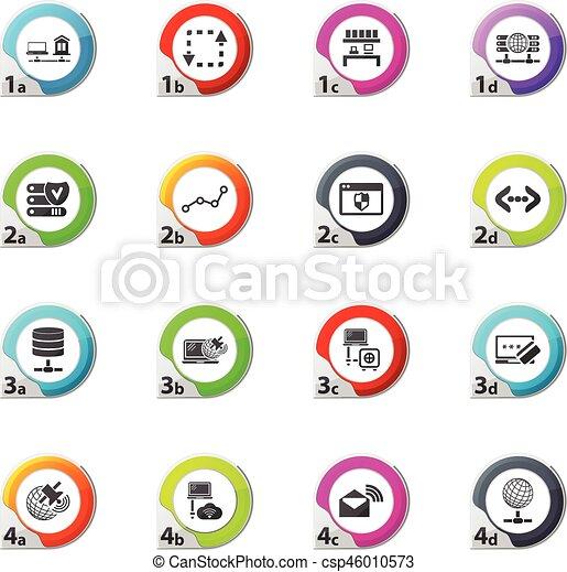 Internet, server, network icons set - csp46010573