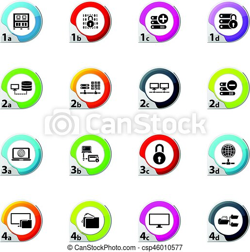 Internet, server, network icons set - csp46010577