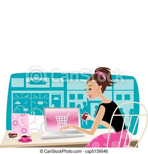 Internet shopping - csp5139546