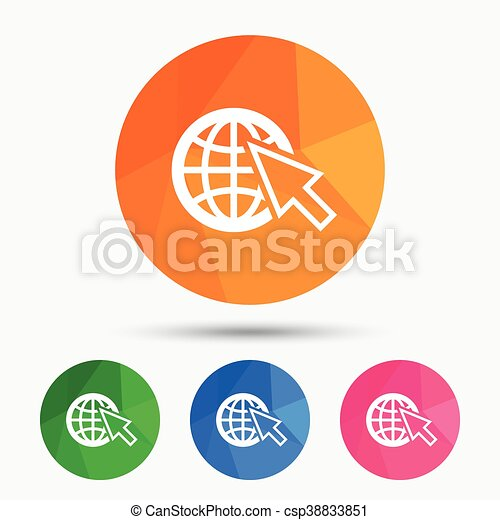 Internet sign icon  World wide web symbol