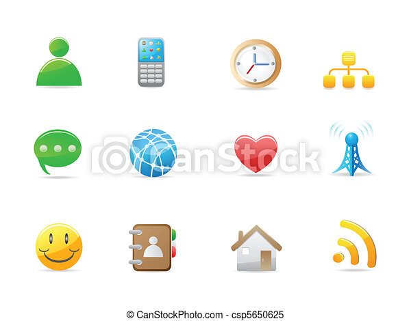 internet social icon set - csp5650625