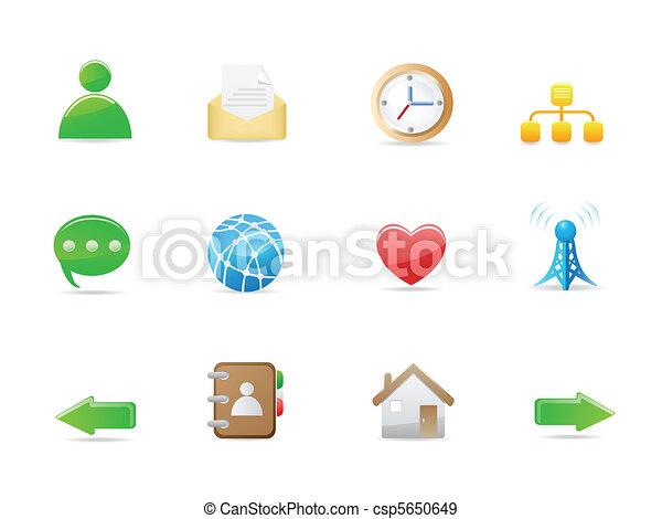 internet social icon set  - csp5650649
