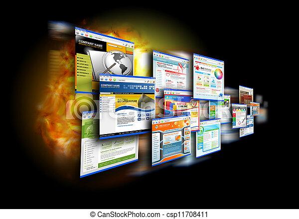 Internet Speed Websites on Black - csp11708411