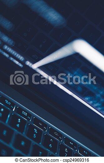 Internet Technologies Backdrop - csp24969316
