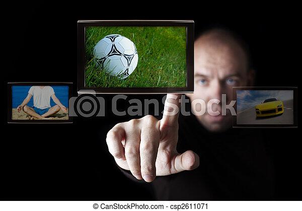 internet TV broadcasting - csp2611071