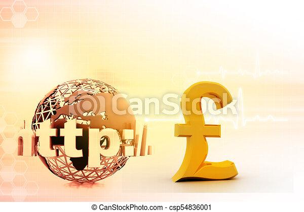 Internet With British Pound Symbol