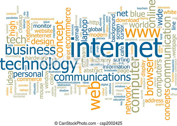 Internet word cloud - csp2002425