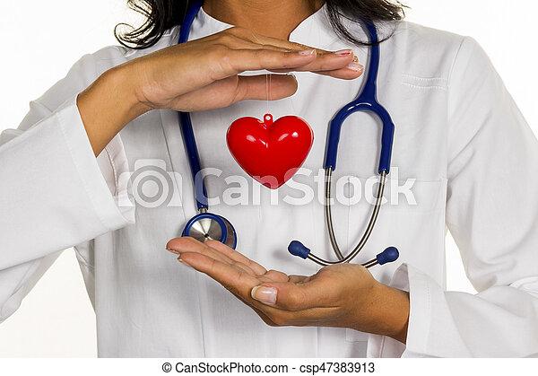 internist with heart - csp47383913