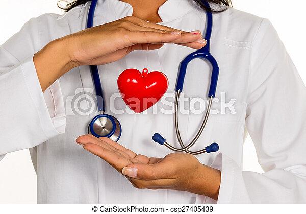 internist with heart - csp27405439