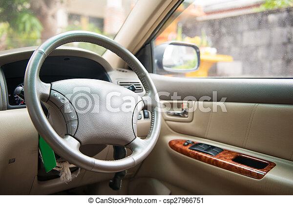 interno, automobile, automobile, vista - csp27966751