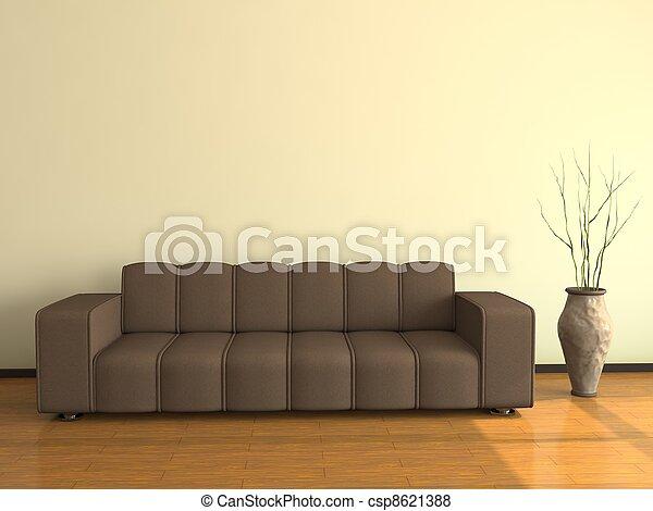 interno, divano, grande - csp8621388