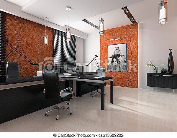 Interno interpretazione moderno ufficio 3d for Interno moderno