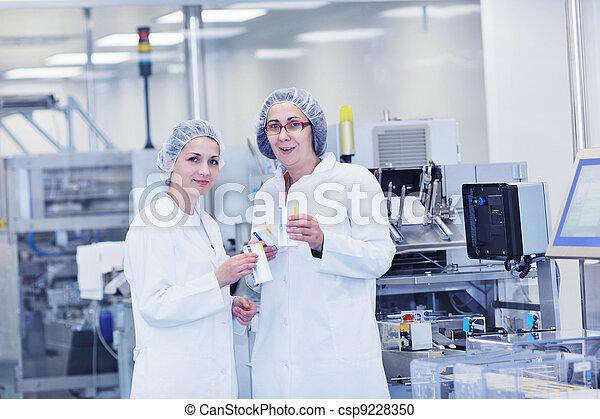 interno, medico, produzione, fabbrica - csp9228350