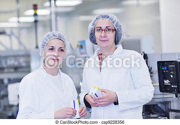 interno, medico, produzione, fabbrica - csp9228356