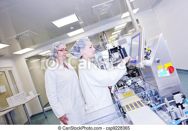 interno, medico, produzione, fabbrica - csp9228365